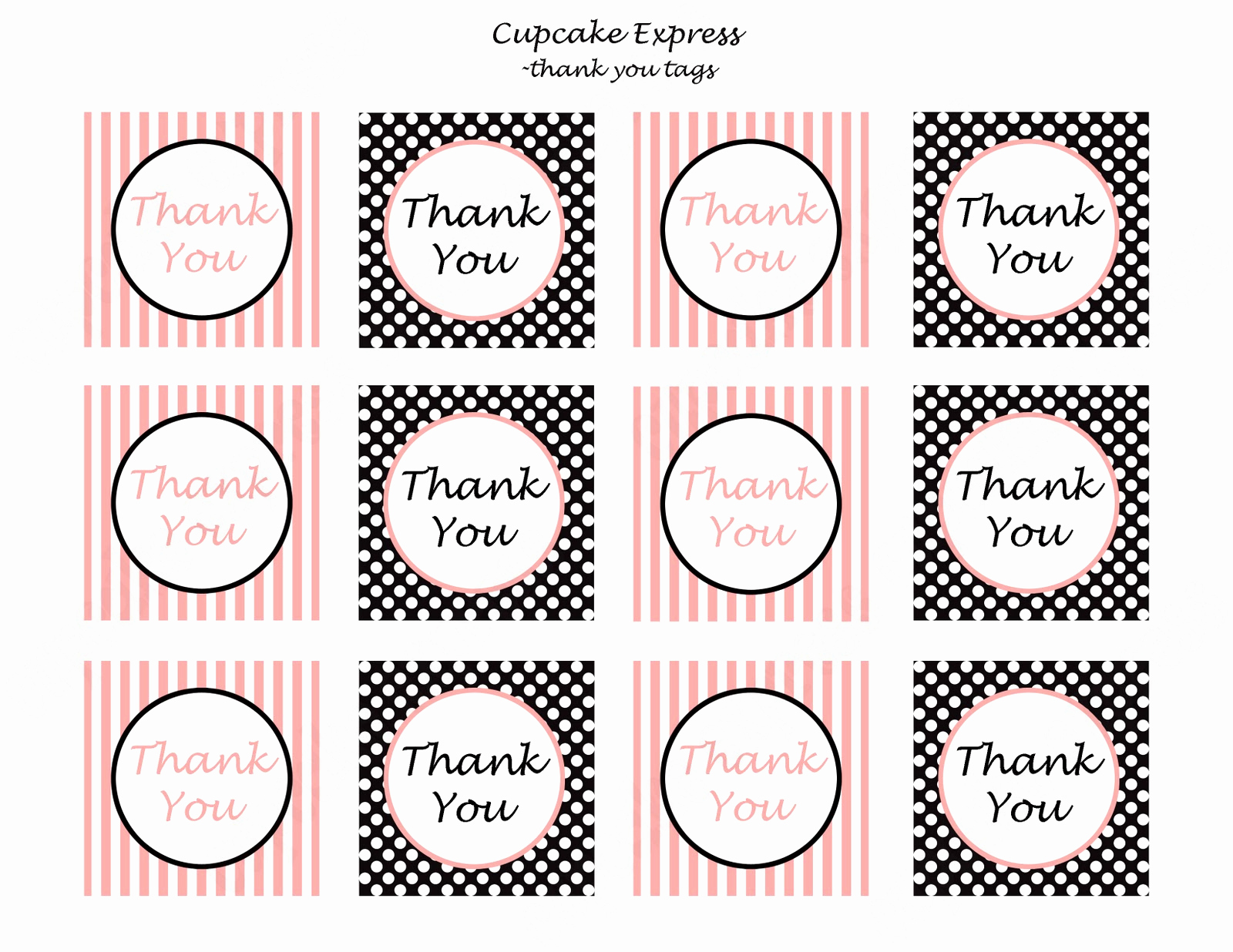 Free Printable Thank You Tags Lovely First 10 Customers to Follow My Blog Will Free