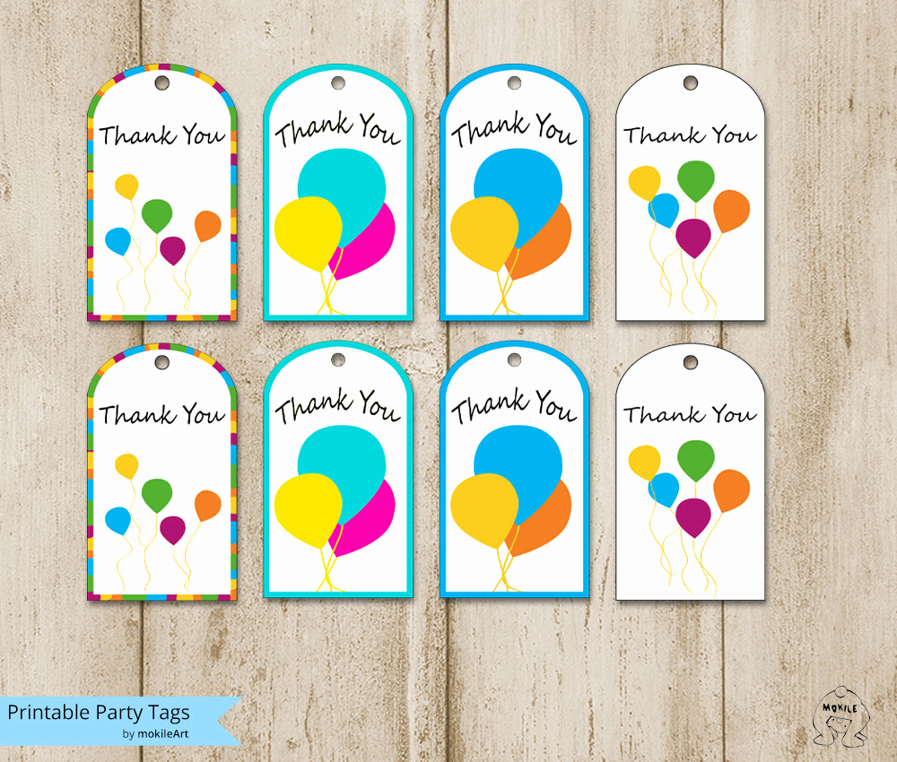 Free Printable Thank You Tags Unique Birthday Tags Printable Thank You Tags Templates Printable