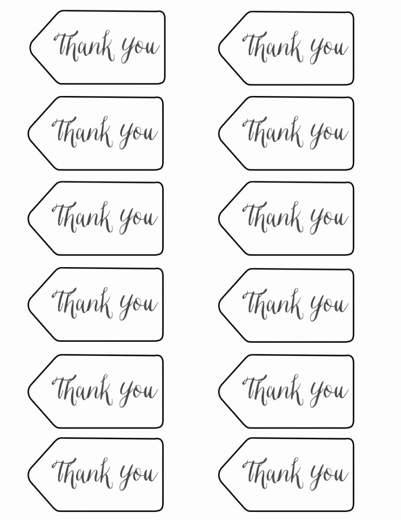 Free Printable Thank You Tags Unique Thank You Tags Printable