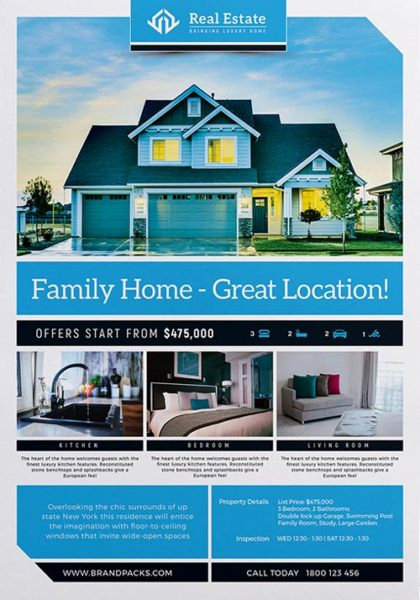 Free Real Estate Templates Awesome Real Estate Free Poster Template Download Psd Poster and