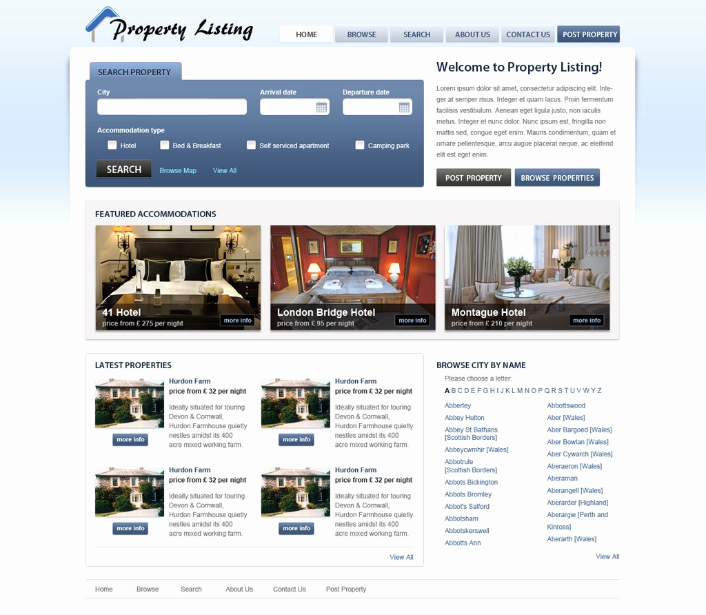 Free Real Estate Templates Awesome Real Estate Website Template