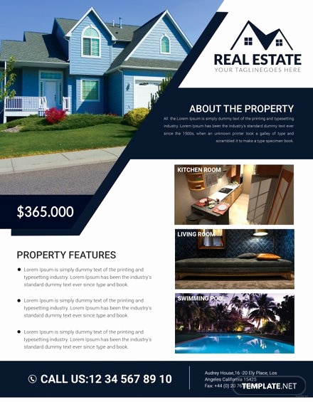 Free Real Estate Templates Best Of Free Print Shop Flyer Template In Adobe Shop