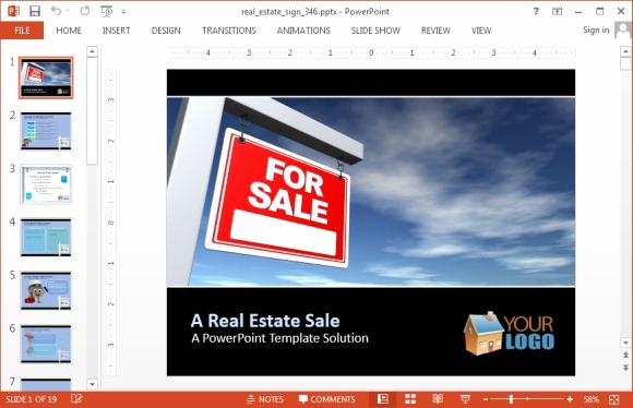 Free Real Estate Templates Best Of Real Estate Sign Powerpoint Template Fppt
