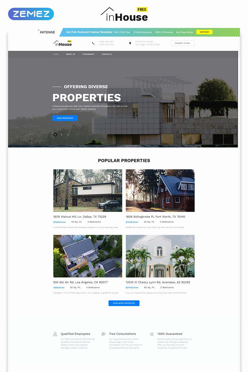 Free Real Estate Templates Fresh Free Website Template Real Estate