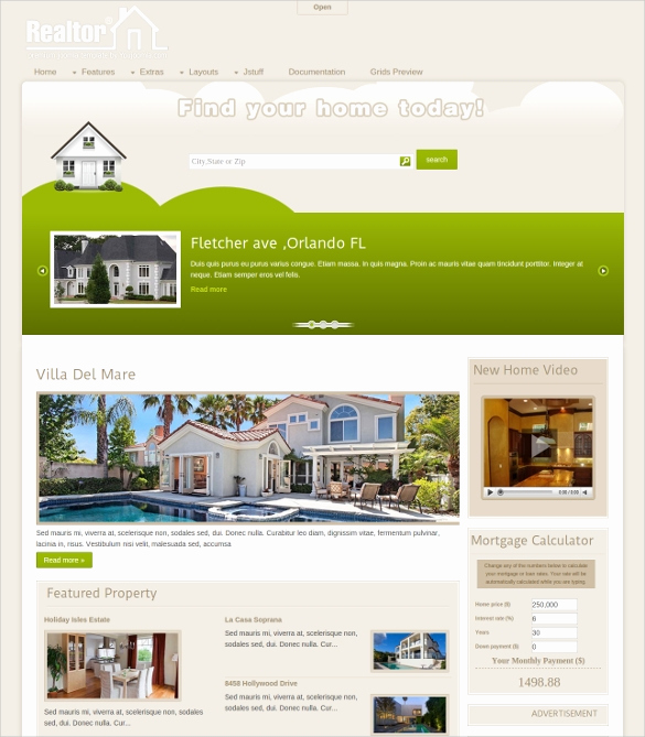 Free Real Estate Templates Inspirational 29 Real Estate Joomla themes & Templates