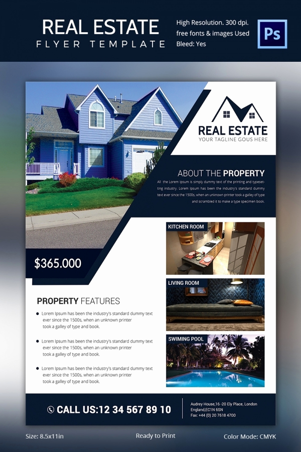Free Real Estate Templates Lovely Real Estate Flyer Template 37 Free Psd Ai Vector Eps
