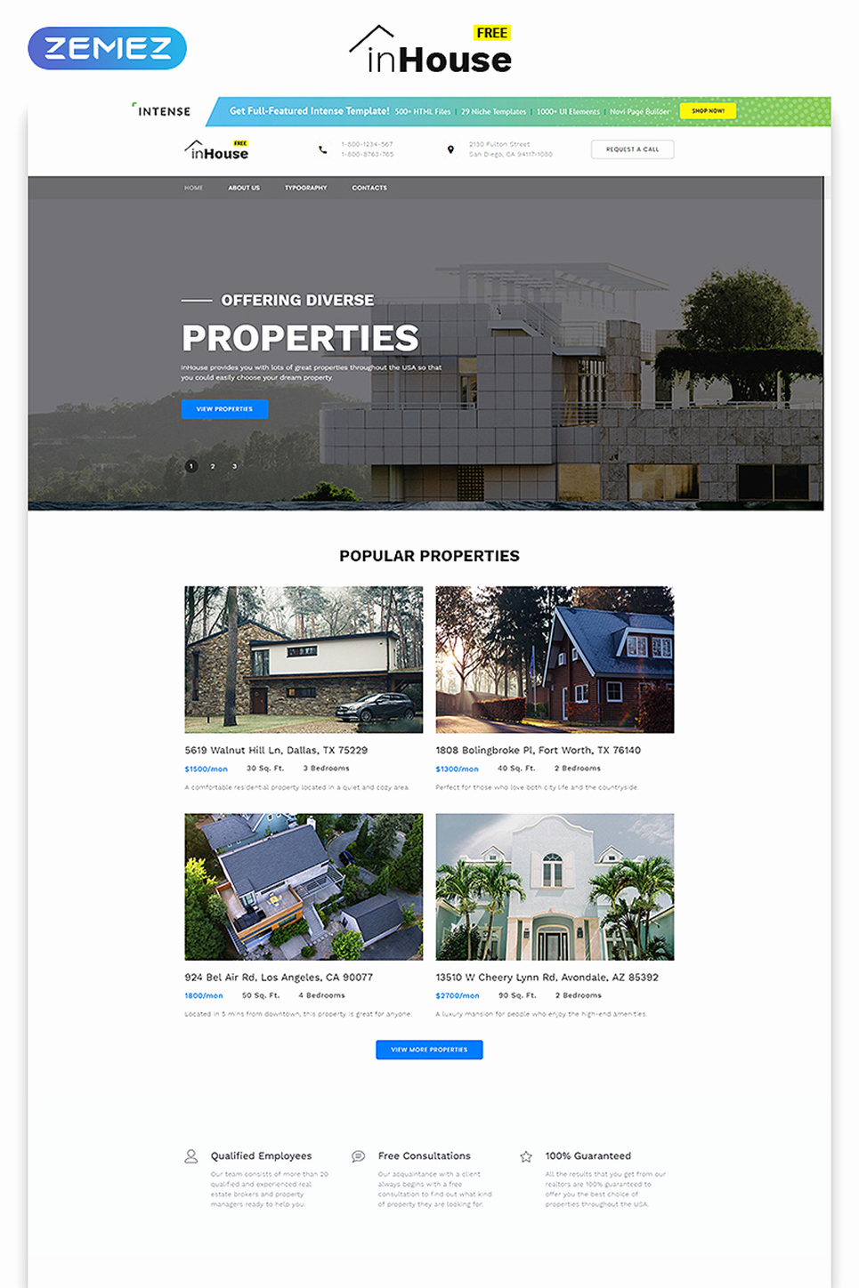 Free Real Estate Templates Luxury Free Website Template Real Estate