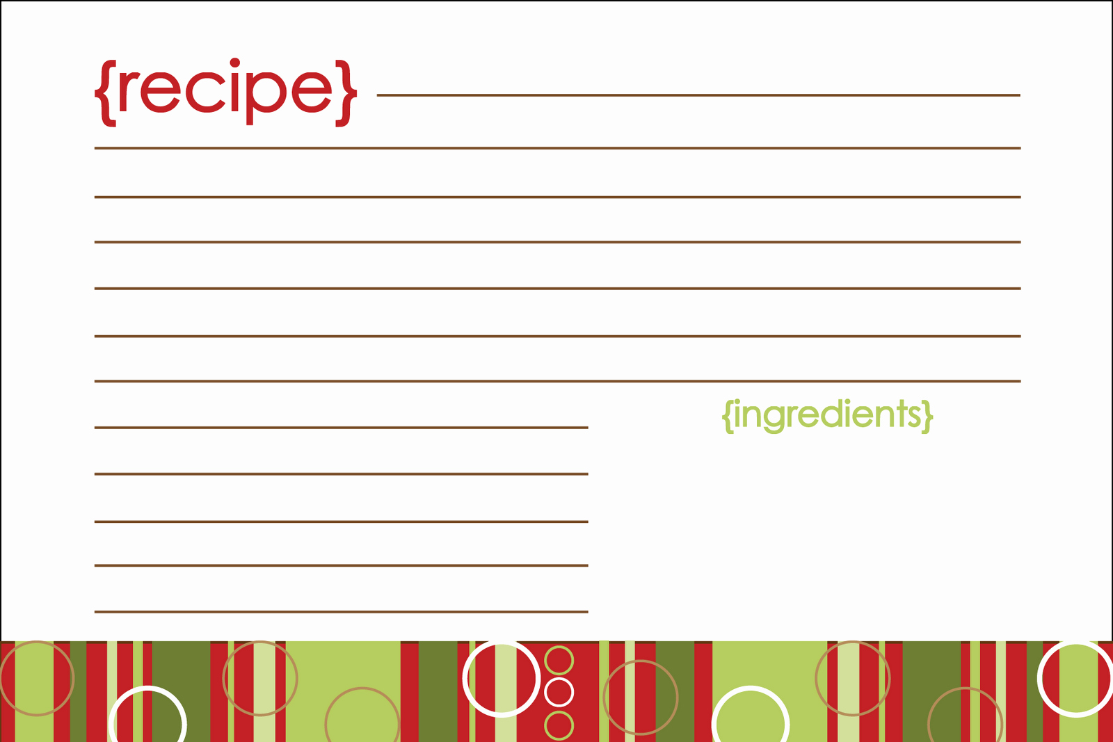 Free Recipe Card Templates Fresh Notably Noted Free Printable Christmas Recipe Card