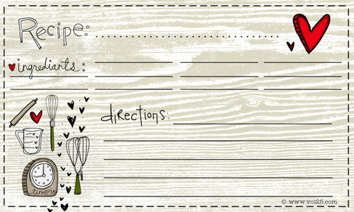 Free Recipe Card Templates Inspirational 25 Free Printable Recipe Cards Home Cooking Memories