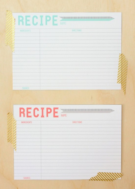 Free Recipe Card Templates Inspirational 40 Recipe Card Template and Free Printables – Tip Junkie