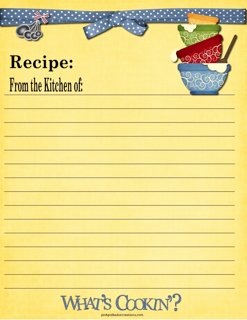 Free Recipe Card Templates Inspirational Recipe Cards Pink Polka Dot Creations