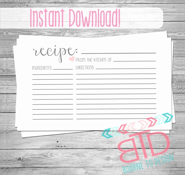 Free Recipe Card Templates Luxury 18 Printable Recipe Card Free Psd Vector Eps Png