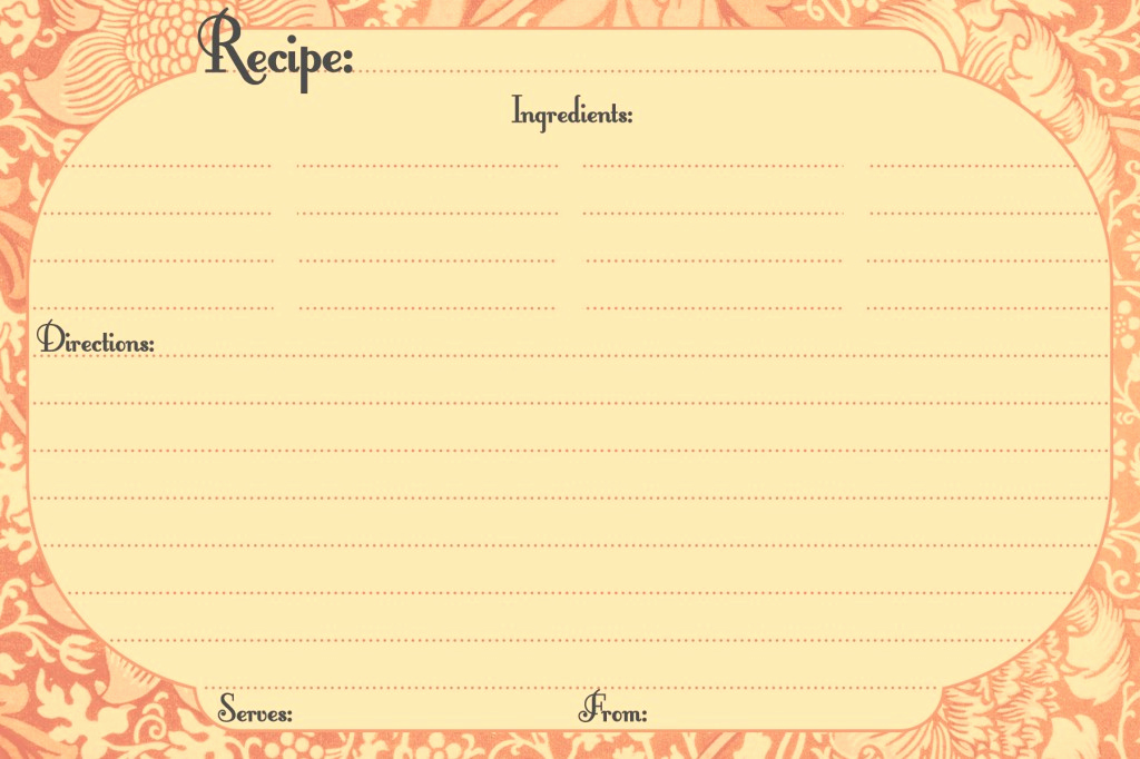 Free Recipe Card Templates Unique Free Printable Recipe Cards