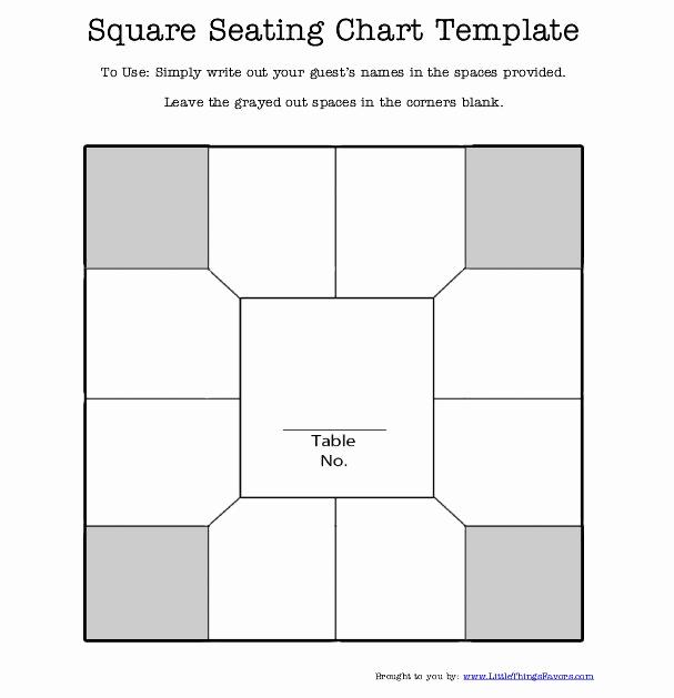 Free Seating Chart Template Beautiful Free Printable Square Table Seating Chart Template for