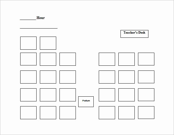 image about Printable Seating Chart known as Absolutely free Seating Chart Template Tasteful No cost Printable Seating