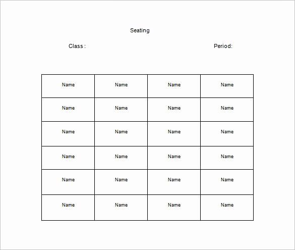 Free Seating Chart Template Fresh Classroom Seating Chart Template 22 Examples In Pdf