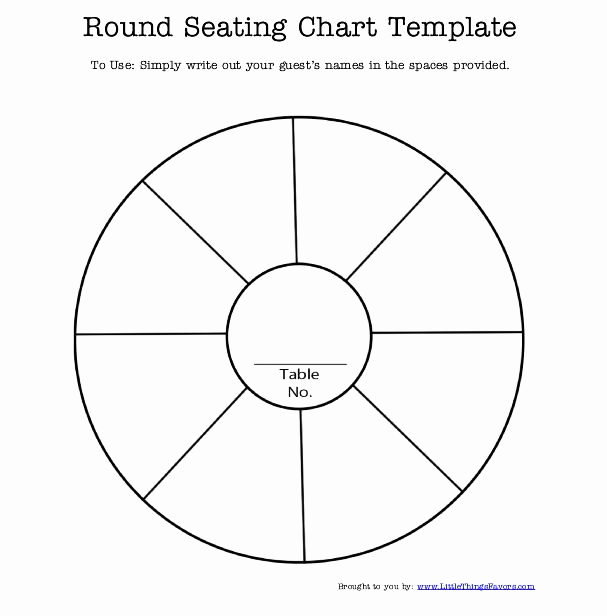 Free Seating Chart Template Inspirational Round Table Seating Chart