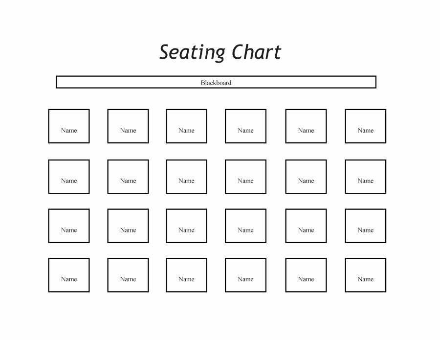 Free Seating Chart Template Luxury 40 Great Seating Chart Templates Wedding Classroom More