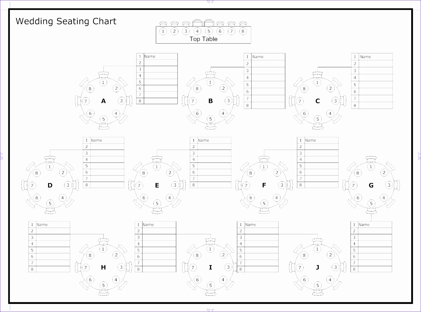 Free Seating Chart Template Unique 6 Wedding Seating Chart Template Excel Exceltemplates