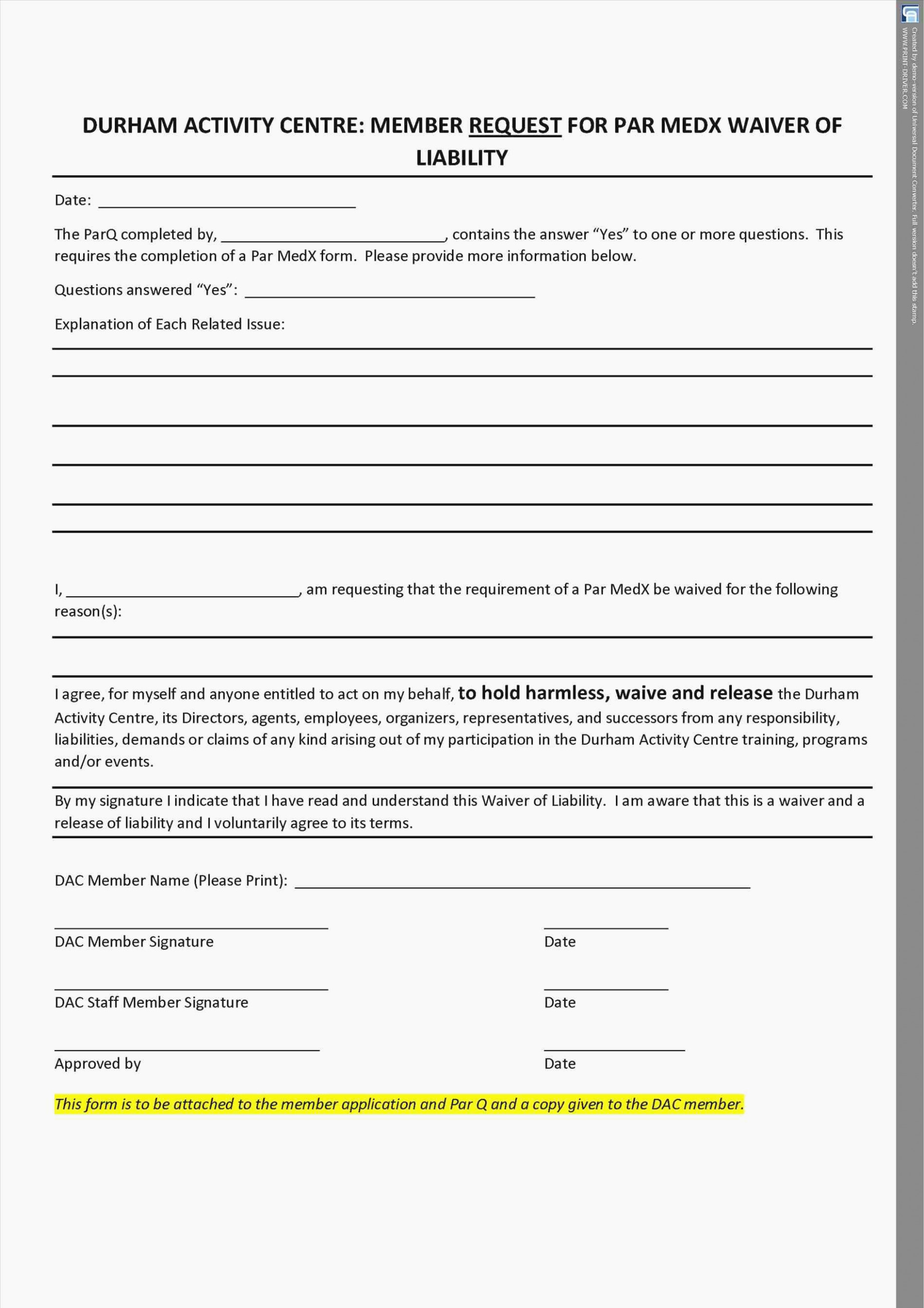 General Release form Template Fresh Learn All About Fitness Waiver form