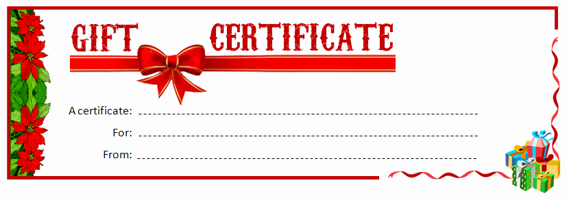 Gift Certificate Template Pages Awesome 28 Cool Printable Gift Certificates