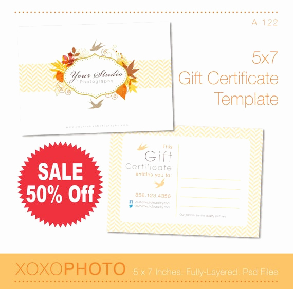 Gift Certificate Template Pages Beautiful Bi S Custom Listing Gift Certificate Template 5x7