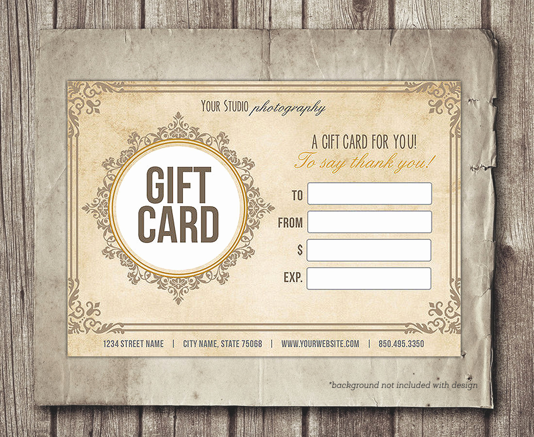 Gift Certificate Template Pages Beautiful Gift Card Template Digital Gift Certificate Shop