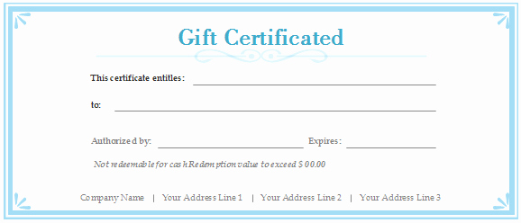 Gift Certificate Template Pages Best Of Free Gift Certificate Templates Customizable and Printable