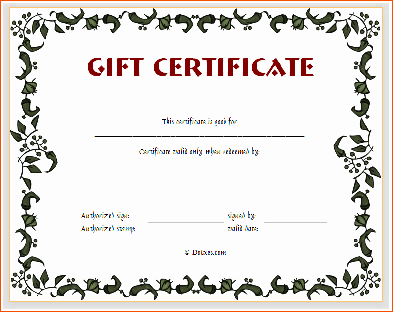 Gift Certificate Template Pages Elegant 6 T Certificates Templates Bookletemplate
