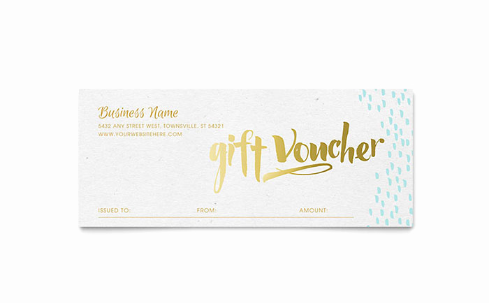 Gift Certificate Template Pages Fresh Elegant Gold Foil Gift Certificate Template Word & Publisher