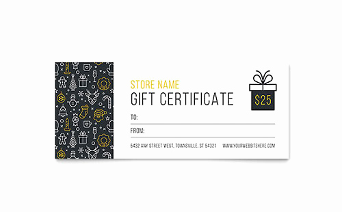 Gift Certificate Template Pages Inspirational Gift Certificate Templates Indesign Illustrator