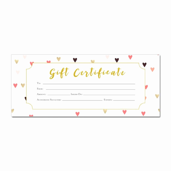 Gift Certificate Template Pages Unique Hearts Confetti Gift Certificate Hearts Printable Premade