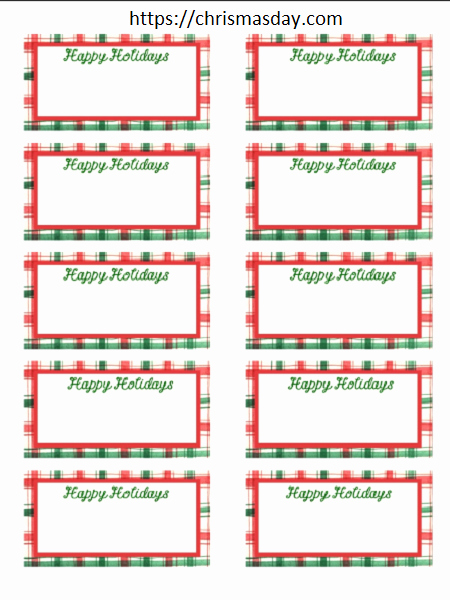 Gift Tag Template Word Beautiful Free Editable Christmas Labels