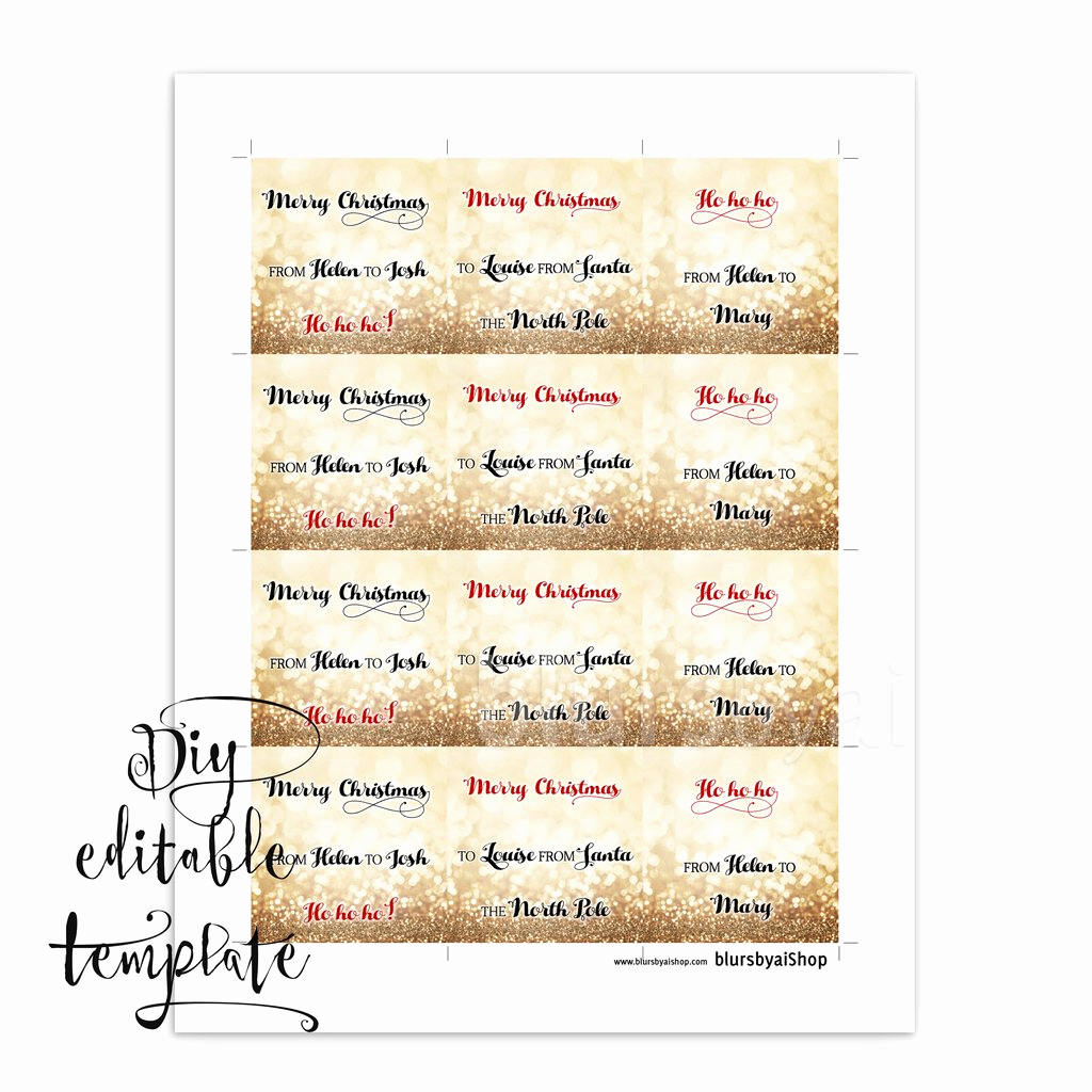 Gift Tag Template Word Beautiful Printable Christmas T Tags Template for Word Fully