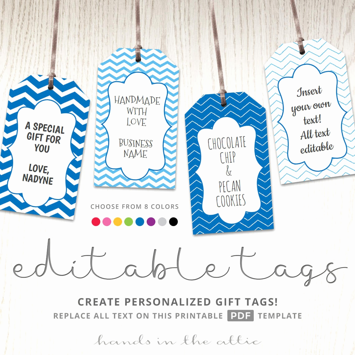 Gift Tag Template Word Elegant Editable T Tags T Tag Template Text Editable Chevron