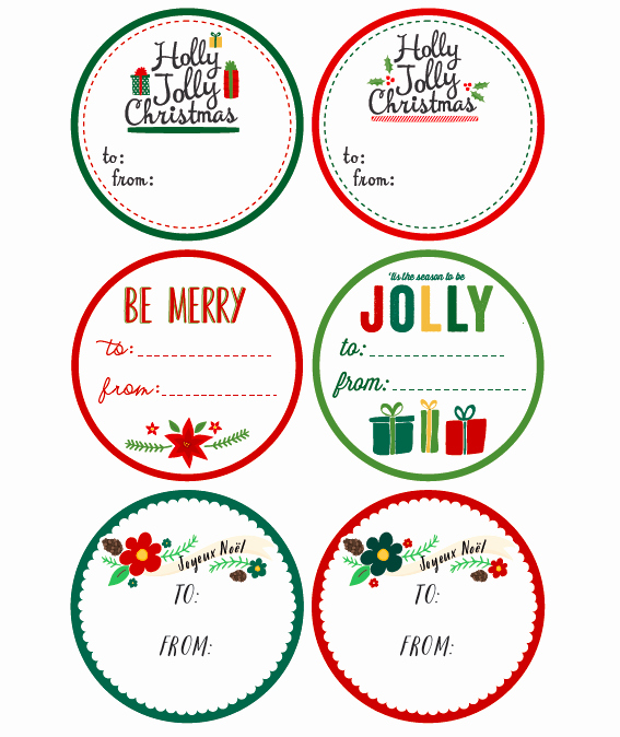 Gift Tag Template Word Elegant Whimsical Christmas Labels by Angie Sandy