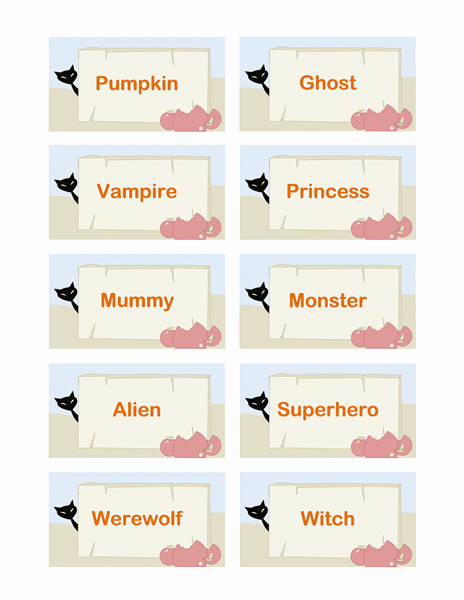 Gift Tag Template Word Lovely 10 Of the Best Halloween Gift Tags for You