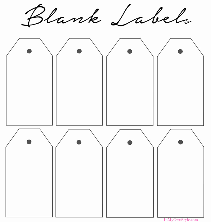 Gift Tag Template Word Lovely Best S Of Blank Labels to Print Printable Blank