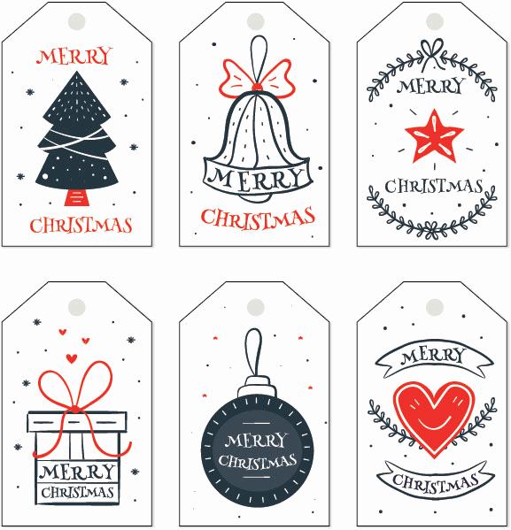 Gift Tag Template Word New Free Christmas Gift Tag Templates Editable & Printable