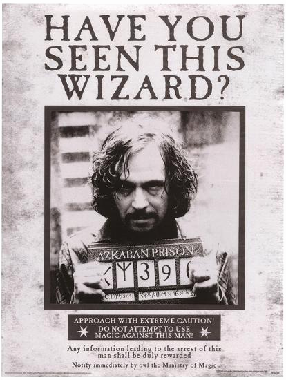 Harry Potter Wanted Poster Awesome Harry Potter Sirius Wanted Movie Poster Masterprint at