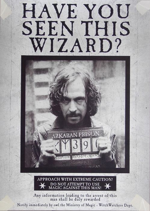 Harry Potter Wanted Poster Awesome Sirius Black Wanted Poster Book Stuff