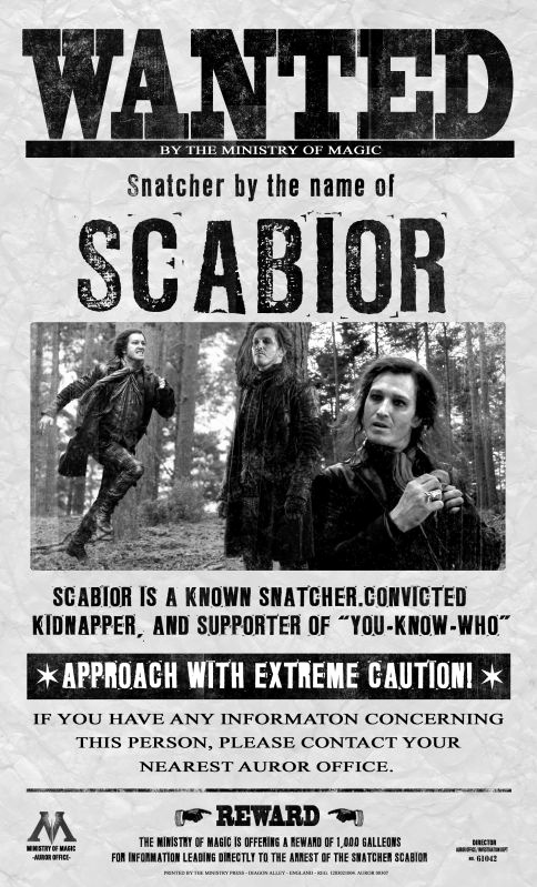 Harry Potter Wanted Poster Beautiful 9 Best Scabior Images On Pinterest
