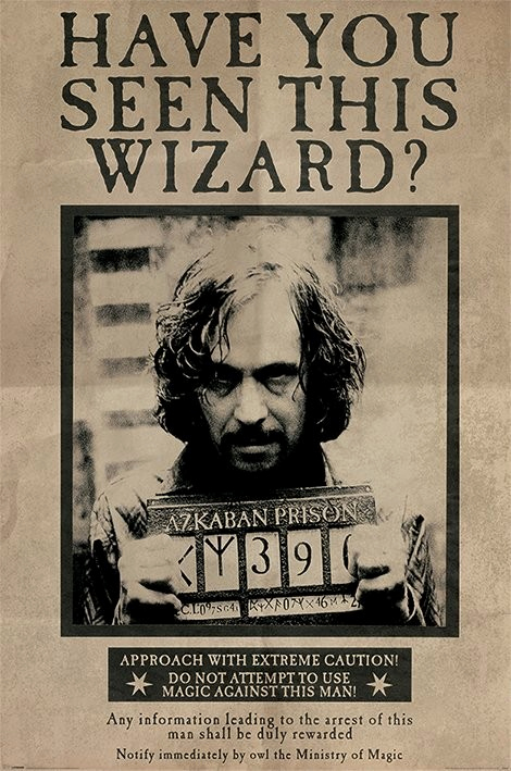 Harry Potter Wanted Poster Fresh Harry Potter Wanted Sirius Black Poster