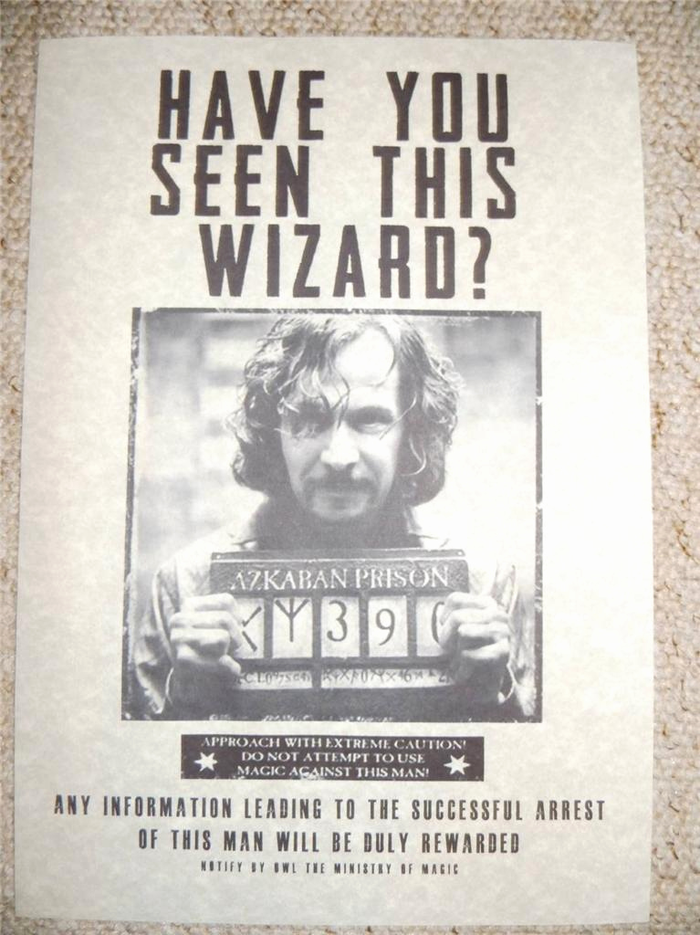 Harry Potter Wanted Poster Unique Harry Potter Hogwarts Wanted Poster Prop Replica Sirius