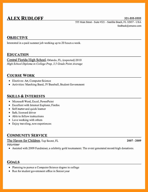 High School Diploma On Resume Elegant 9 10 High School Diploma On Resume Examples