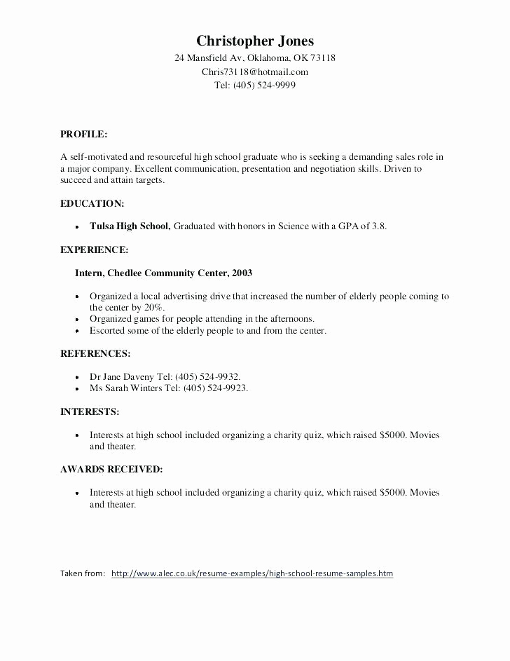 High School Diploma On Resume Luxury Achievements to Put A Resume