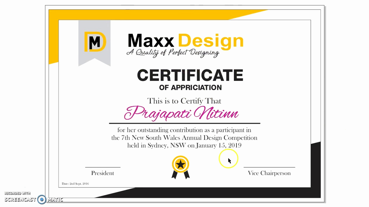 How to Make A Certificate Beautiful How to Make Certificate In Corel Draw