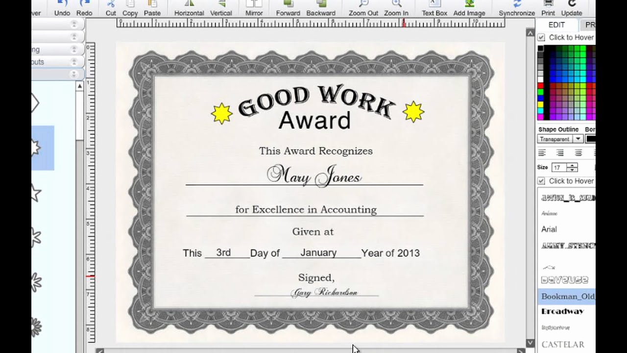 How to Make A Certificate Inspirational How to Make Certificates with I N Print