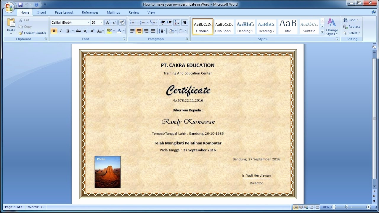 How to Make A Certificate Inspirational How to Make Your Own Certificate In Word Learn Ms Word