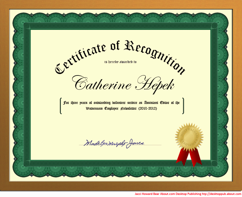 How to Make A Certificate Unique You Can Create A Certificate Of Recognition In Word for